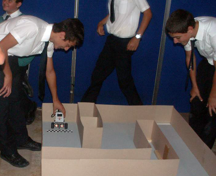 Students working through the Maze